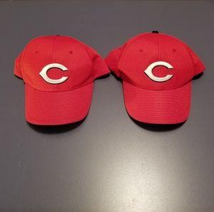 2 Cincinnati Reds hats